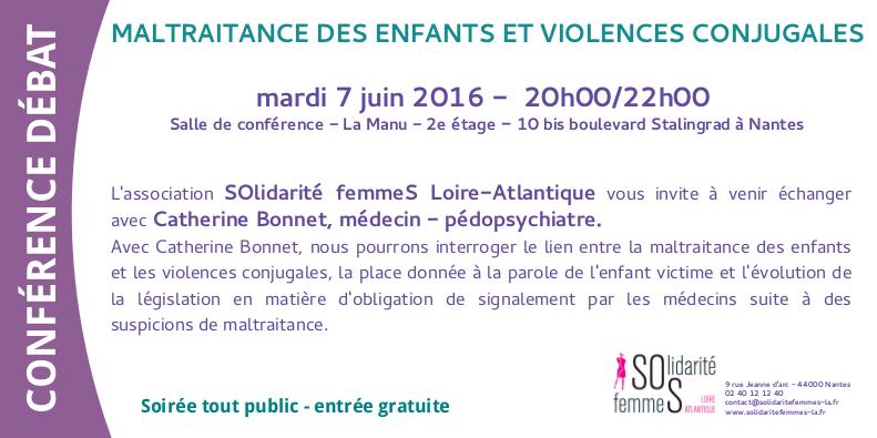 Flyer conférence débat Catherine Bonnet